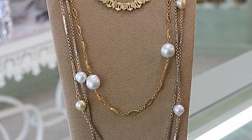 Victorian Chains with South Sea Pearls