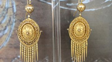 French Antique Tassel Drop Earrings