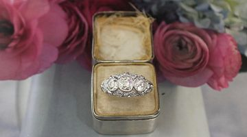 Art Deco Trilogy Fancy Ring