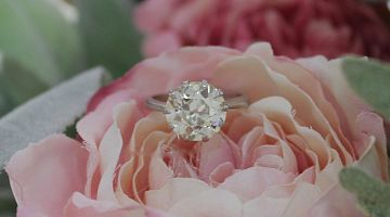 Platinum 3.7ct Old Euro Cut Diamond Solitaire