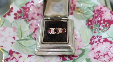 Victorian Ruby and Diamond 5 Stone Ring
