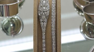 Art Deco Platinum Diamond Bracelets