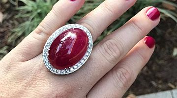 Cabochon Ruby 94ct Ring