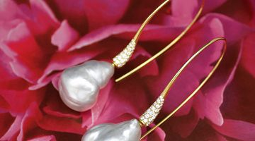 South Sea Keshi Pearl Drop Earrings