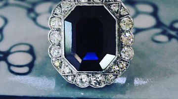 Antique Natural Sapphire Ring