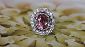 Natural Pink Tourmaline Ring