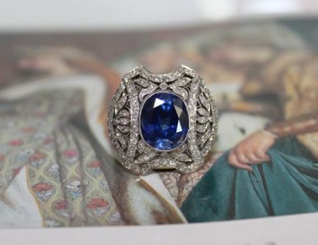 Edwardian c.1920 Belle Epoque Ring