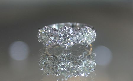 Antique Style Trilogy Ring